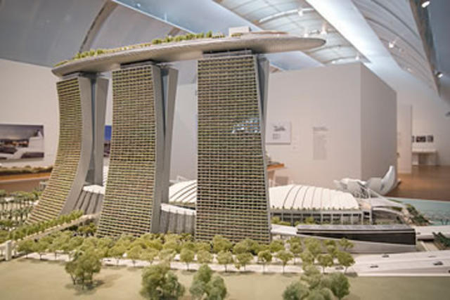 Architectural model by Moshe Safdie