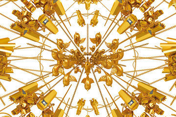 Gold wall paper