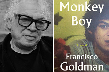 Francisco Goldman head shot with book cover