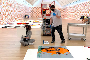 install of an exhibitions photo