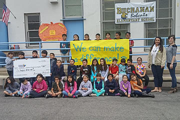Students at Buchanan Elementary School