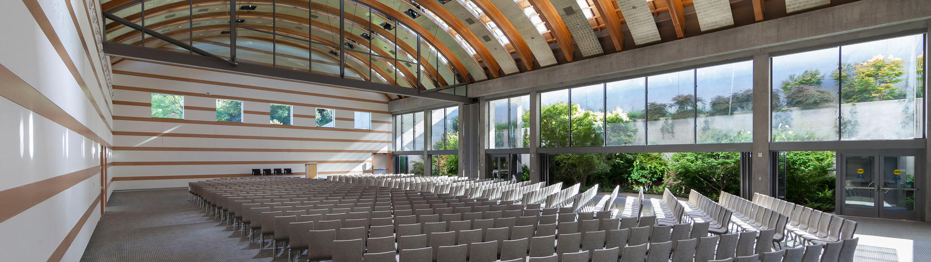 Guerin Pavilion interior showing theater seating set-up