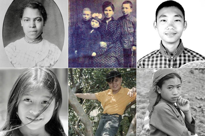 Portraits of immigrants whose stories are shared in this Grade 5 tour