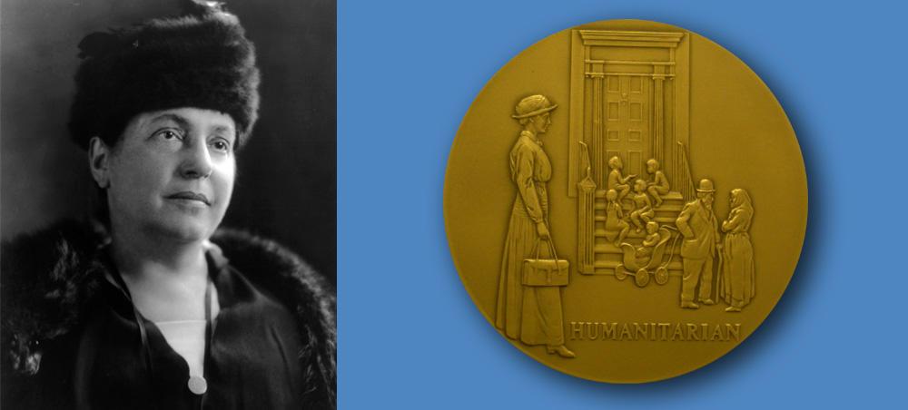 Medal honoring Lillian D. Wald