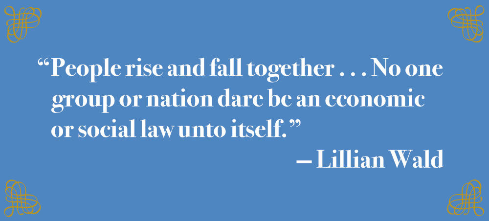 Lillian Wald Quote